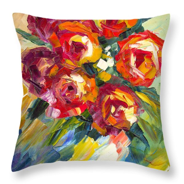 Dream Roses Throw Pillow by Jessilyn Park