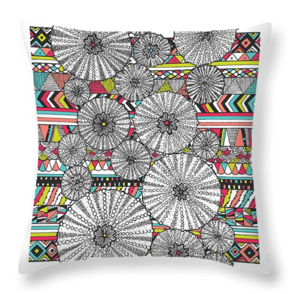 Dream Urchins Throw Pillow by Susan Claire