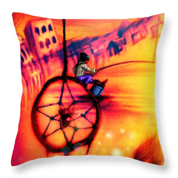Dreamcatcher Throw Pillow by Ruben Santos