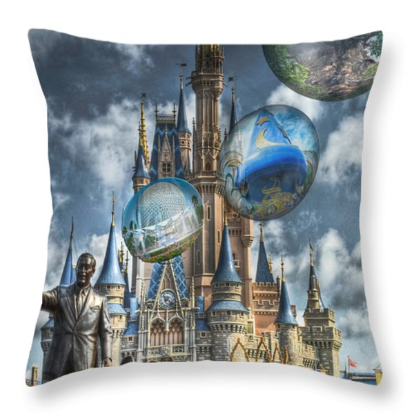 Dreamer Of Dreams Throw Pillow by Ryan Crane