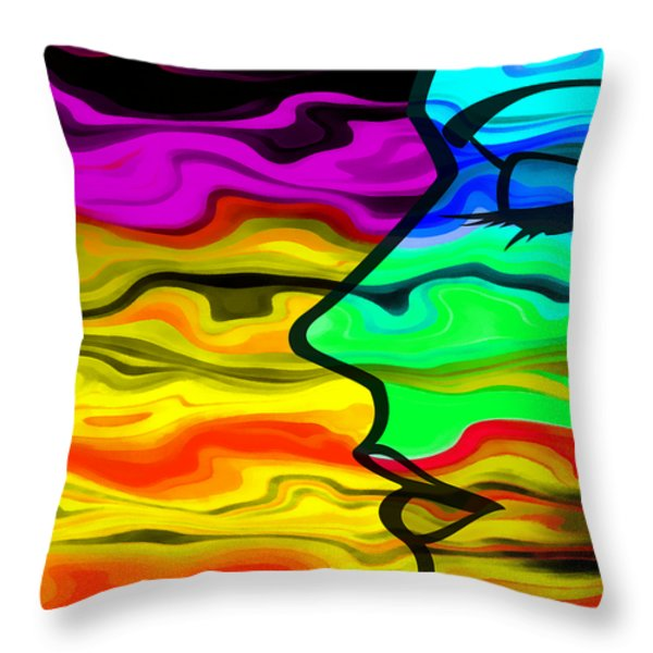 Dreaming 2 Throw Pillow by Angelina Vick