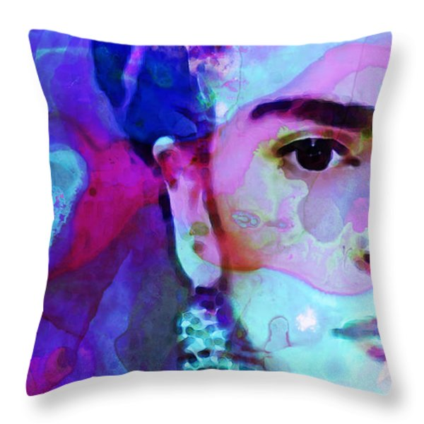 Dreaming Of Frida - Art By Sharon Cummings Throw Pillow by Sharon Cummings