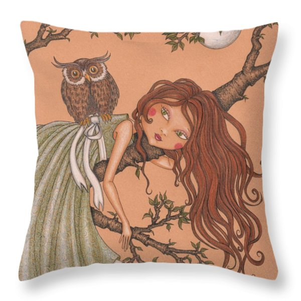 Dreaming Throw Pillow by Snezana Kragulj