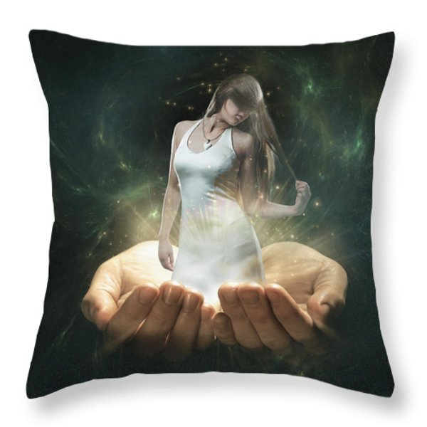 Dreamscape Throw Pillow by Erik Brede