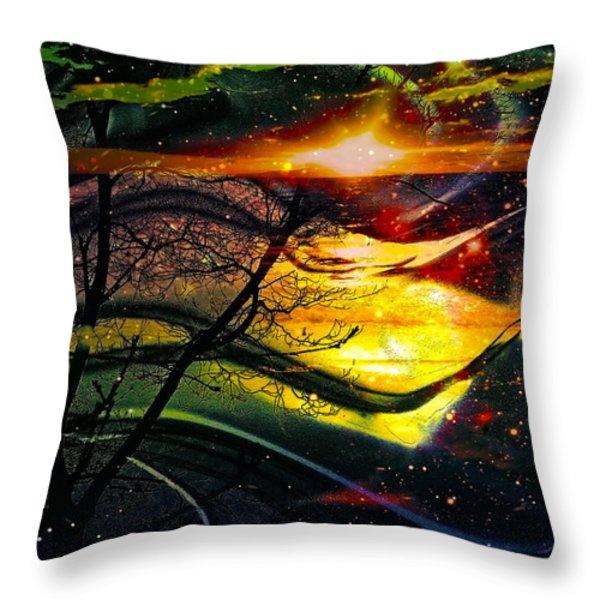 Dreamtime Throw Pillow by Linda Sannuti