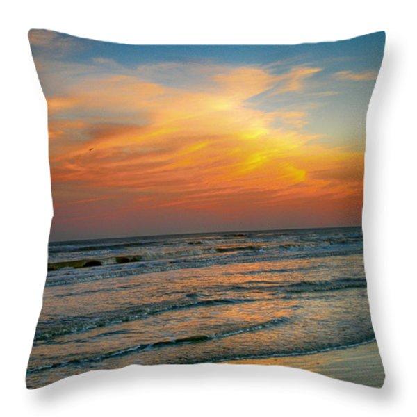 Dreamy Texas Sunset Throw Pillow by Kristina Deane