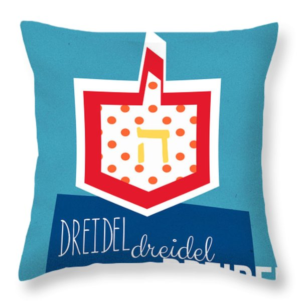 Dreidels Throw Pillow by Linda Woods