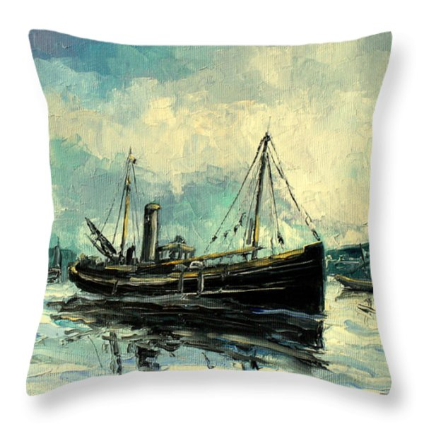 Drifter Throw Pillow by Luke Karcz