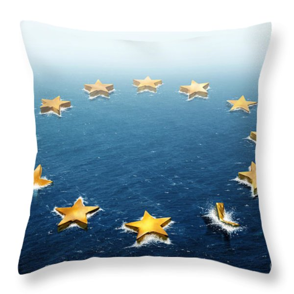 Drifting Europe Throw Pillow by Carlos Caetano