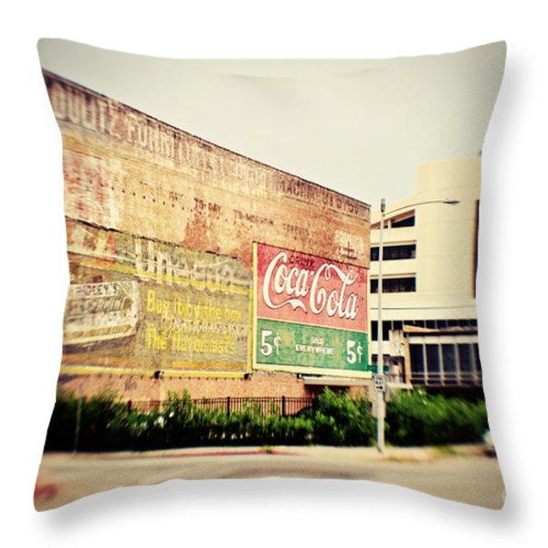 Drink Coca Cola Throw Pillow by Scott Pellegrin