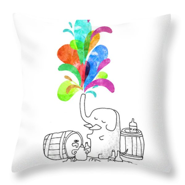 Drink Drank Drunk Throw Pillow by Budi Satria Kwan