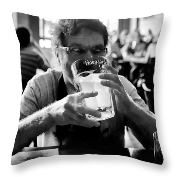 Drink Up Throw Pillow by Trever Miller