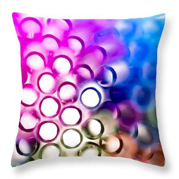 Drinking Straws 1 Throw Pillow by Jane Rix