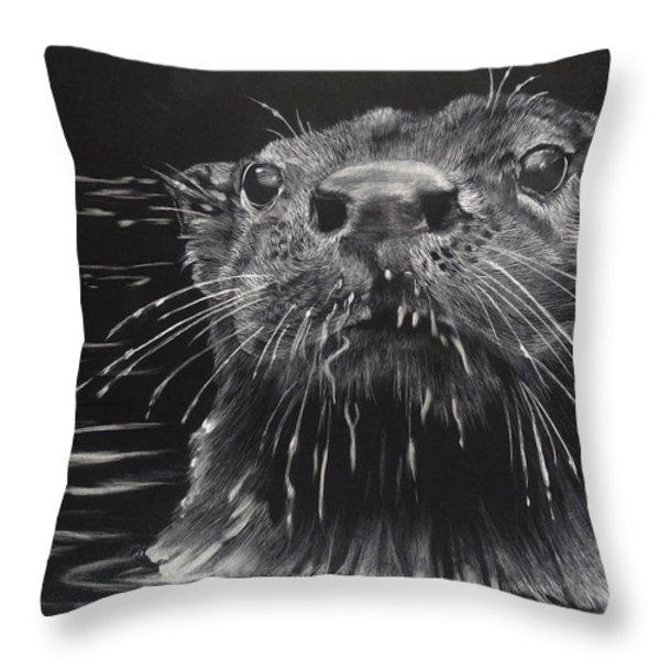 Drippy Throw Pillow by Sydne Spencer