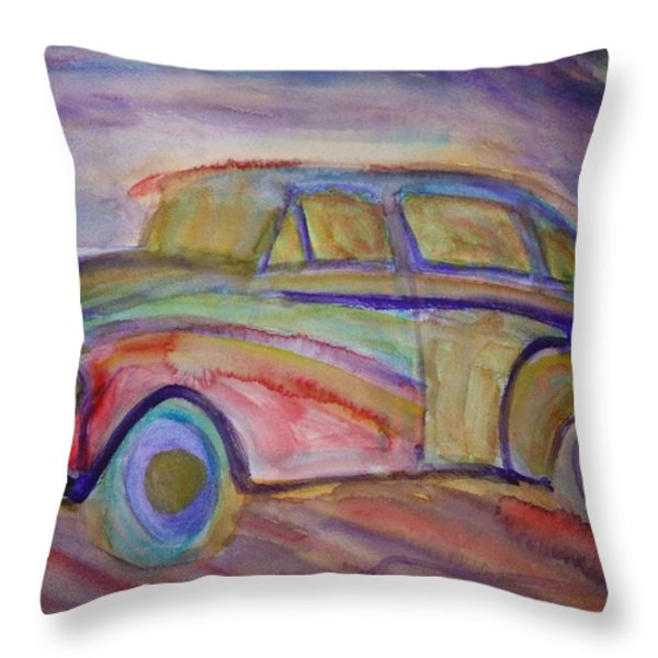 drive me home again Throw Pillow by Hilde Widerberg