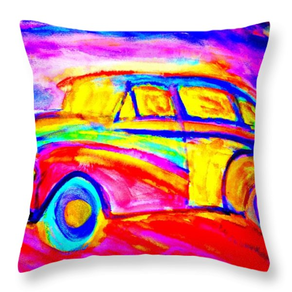 Driving home  Throw Pillow by Hilde Widerberg