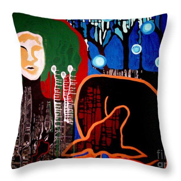 Dropped Throw Pillow by Amy Sorrell