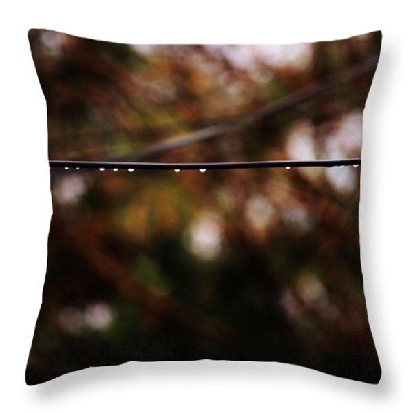 Drops Throw Pillow by Jessica Shelton