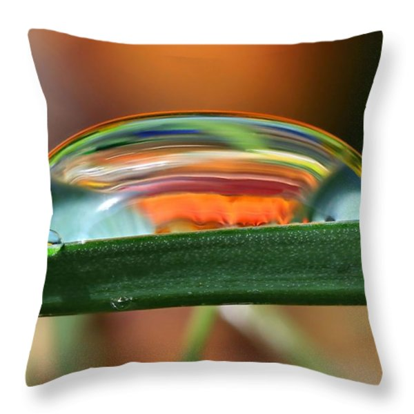 Drops Of Abstract I Throw Pillow by Gary Yost