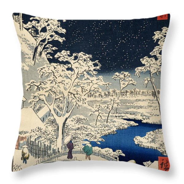 Drum Bridge at Meguro and Sunset Hill Throw Pillow by Nomad Art And  Design