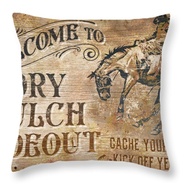 Dry Gulch Hideout Throw Pillow by JQ Licensing
