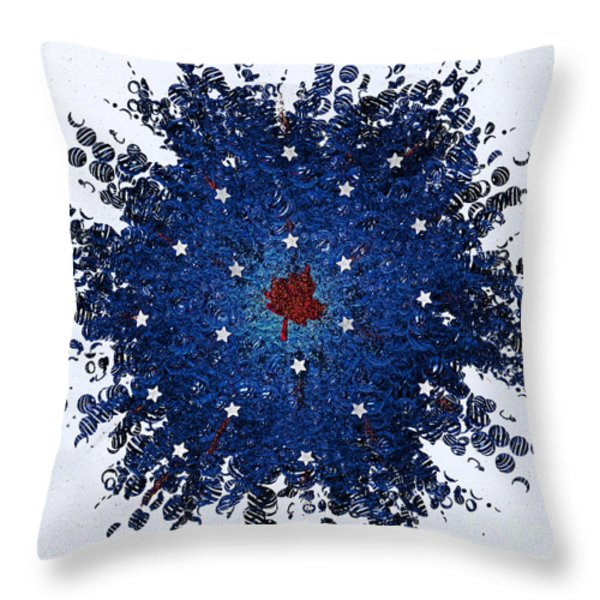 Dual Citizenship 1 Throw Pillow by First Star Art