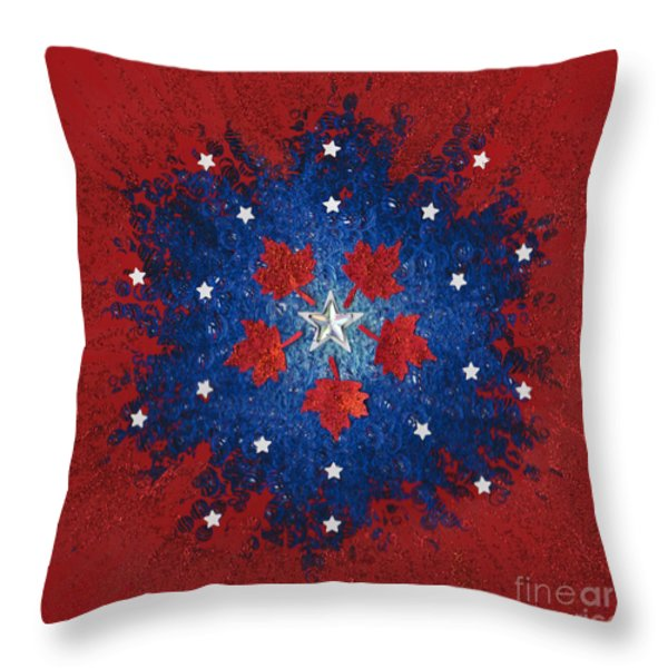 Dual Citizenship 2 Throw Pillow by First Star Art
