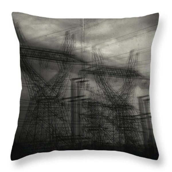 Duality Throw Pillow by Taylan Soyturk