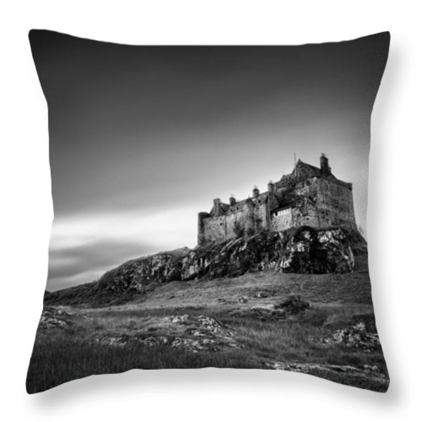 Duart Castle Throw Pillow by Dave Bowman