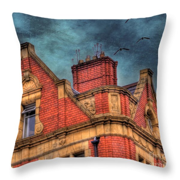 Dublin House Roof Top Throw Pillow by Juli Scalzi