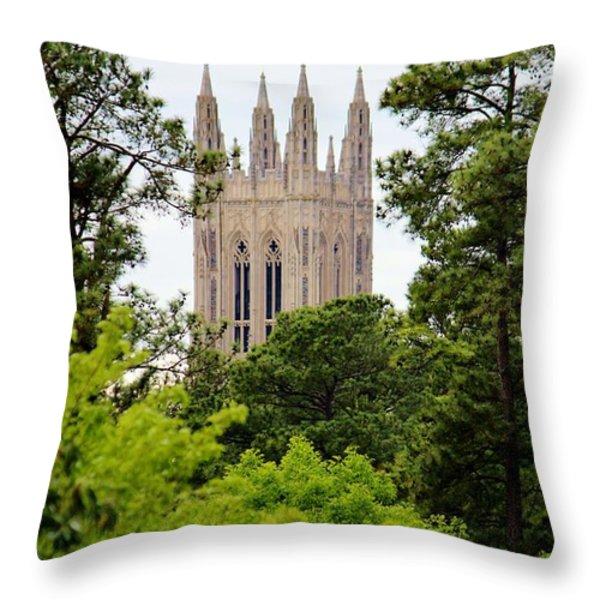 Duke Chapel Throw Pillow by Cynthia Guinn
