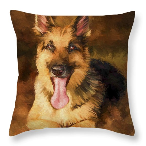 Duke Throw Pillow by David Wagner