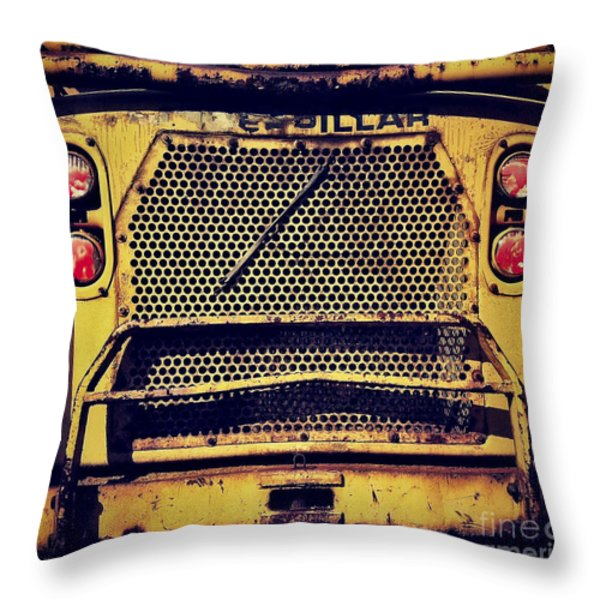 Dump Truck Grille Throw Pillow by Amy Cicconi