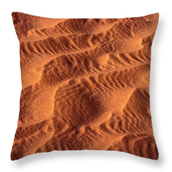 Dune Patterns - 241 Throw Pillow by Paul W Faust -  Impressions of Light