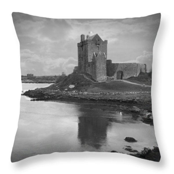 Dunguaire Castle - Ireland Throw Pillow by Mike McGlothlen