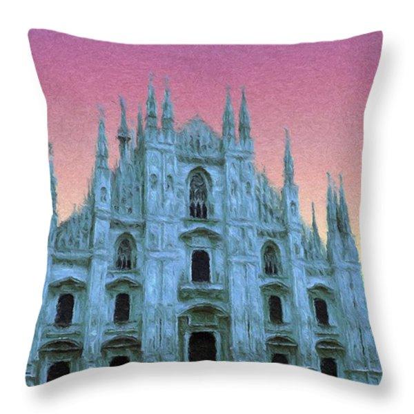 Duomo Di Milano Throw Pillow by Jeff Kolker