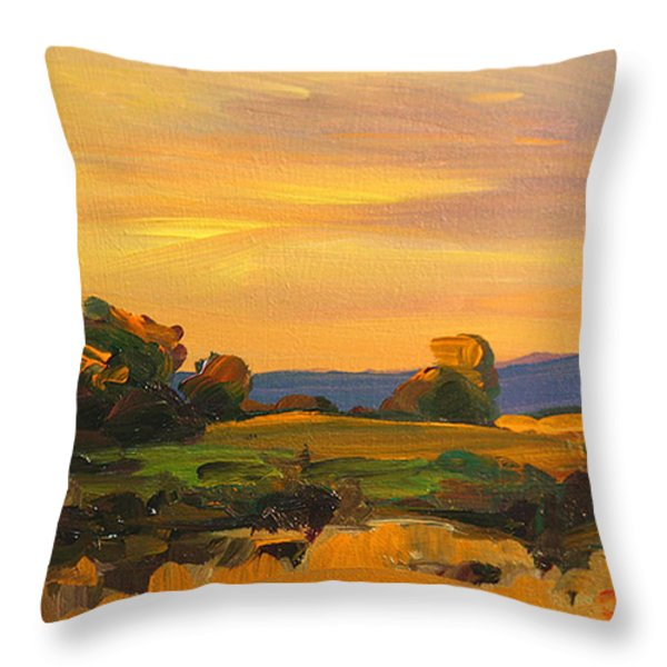 Dusk In Essex Throw Pillow by Savlen Art