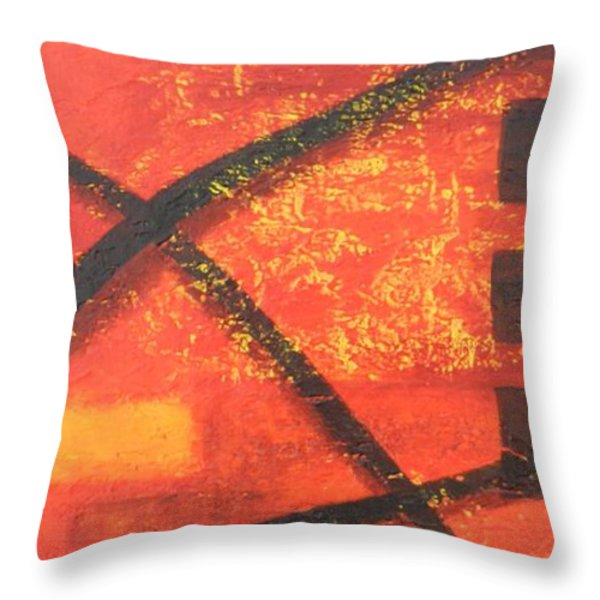 Dusk Throw Pillow by Leana De Villiers
