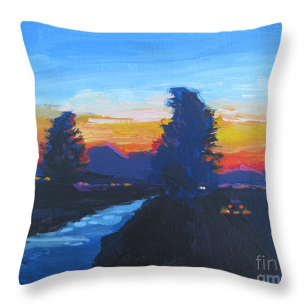 Dusk Moment Throw Pillow by Vanessa Hadady BFA MA