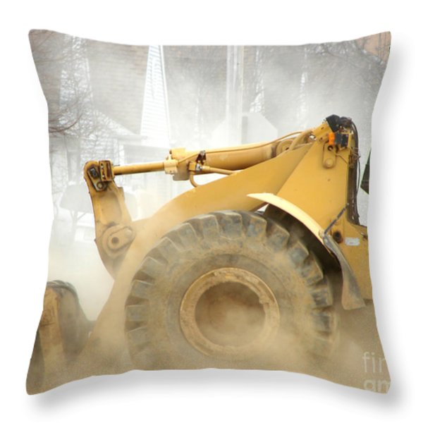 Dust Machine Throw Pillow by Olivier Le Queinec