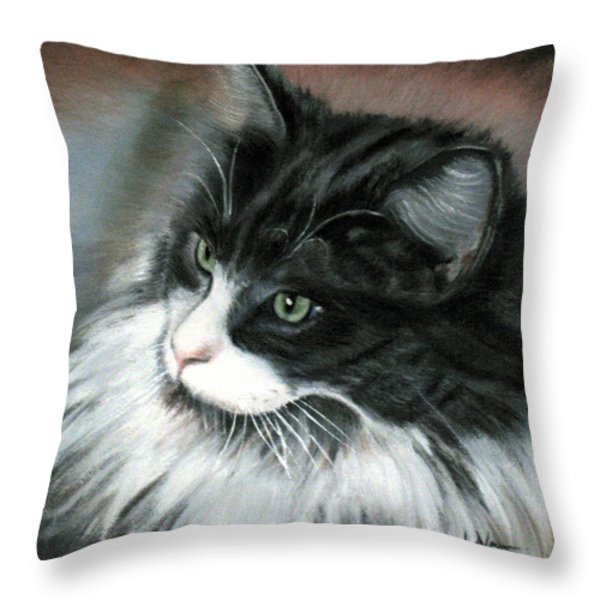 Dusty Throw Pillow by LaVonne Hand