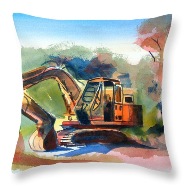 Duty Dozer Throw Pillow by Kip DeVore