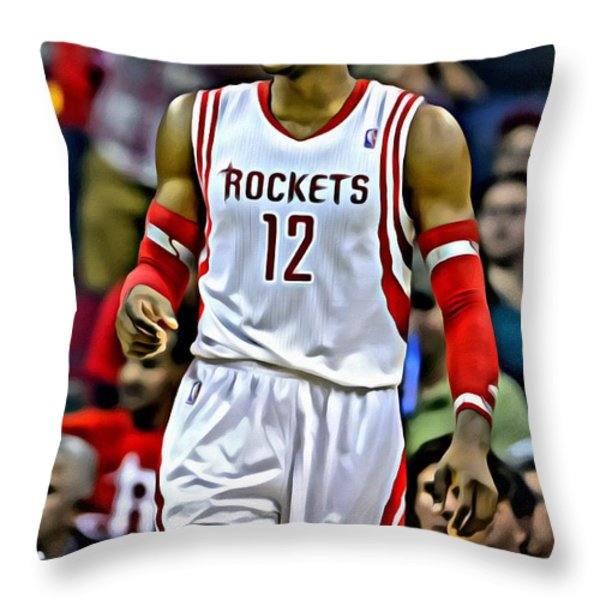 Dwight Howard Throw Pillow by Florian Rodarte