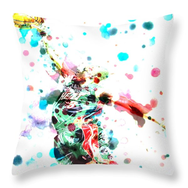 Dwyane Wade Throw Pillow by BRIAN REAVES