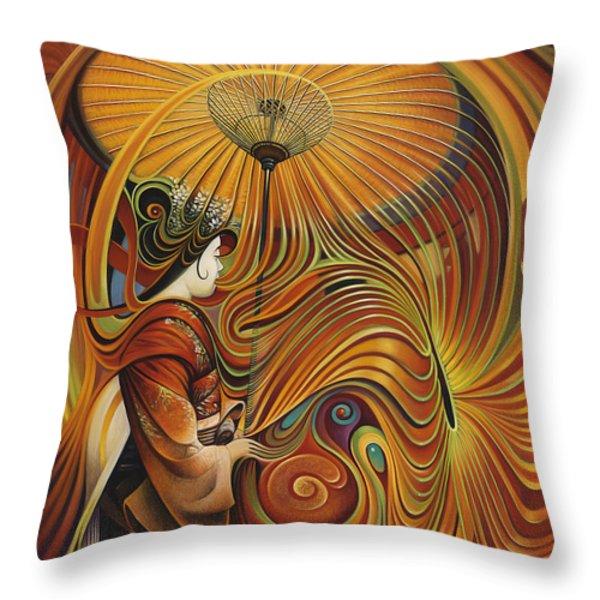Dynamic Oriental Throw Pillow by Ricardo Chavez-Mendez
