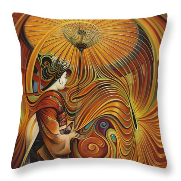 Dynamic Oriental Throw Pillow by Ricardo Chavez-Mendez