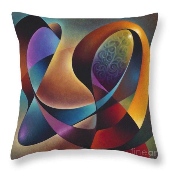 Dynamic Series #13 Throw Pillow by Ricardo Chavez-Mendez