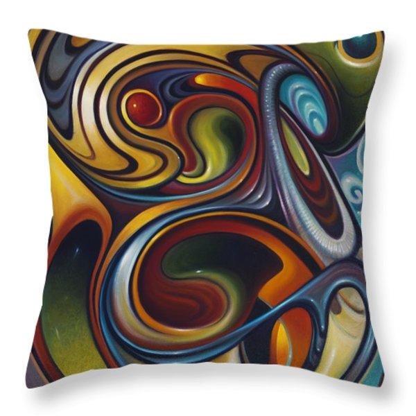 Dynamic Series #15 Throw Pillow by Ricardo Chavez-Mendez