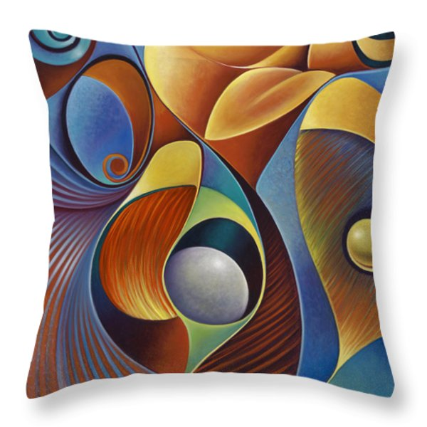 Dynamic Series #22 Throw Pillow by Ricardo Chavez-Mendez