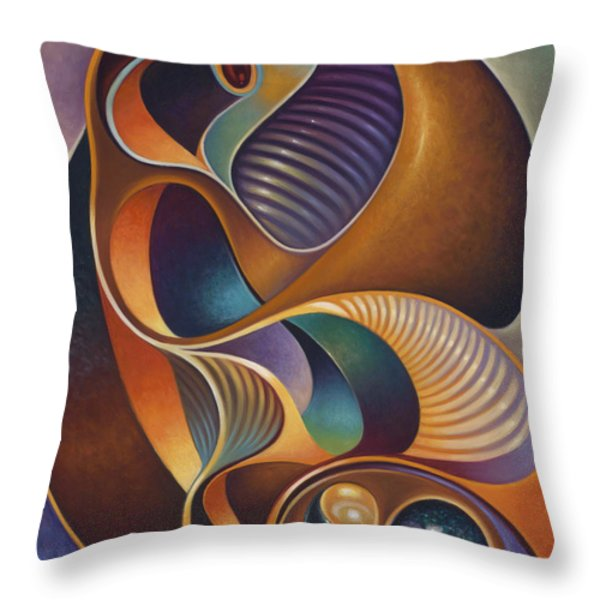 Dynamic Series #23 Throw Pillow by Ricardo Chavez-Mendez